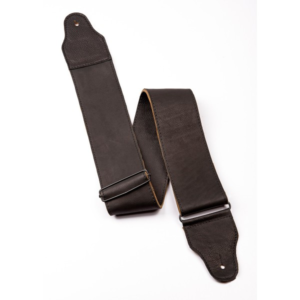 Black Leather Guitar Strap (75mm)