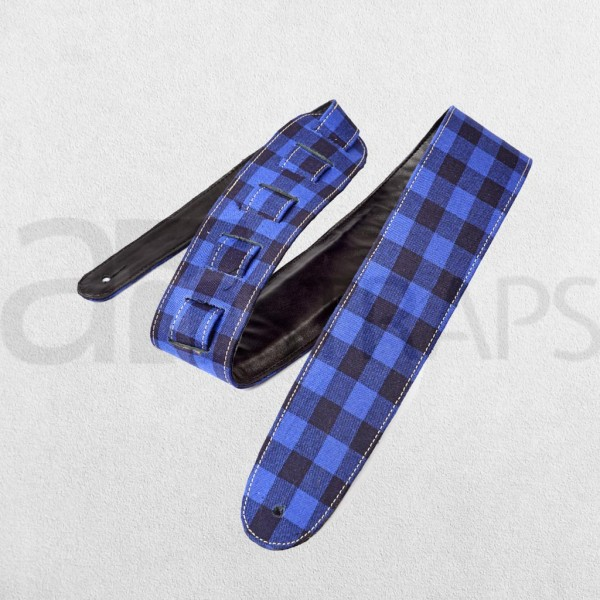 "2.55"" Fabric N Leather Guitar Strap (65mm) Ch..."