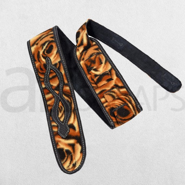 "3"" Fabric N Leather Guitar Strap (75mm) Zodia..."