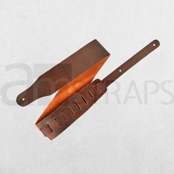 Brown Leather Guitar Strap (63mm)