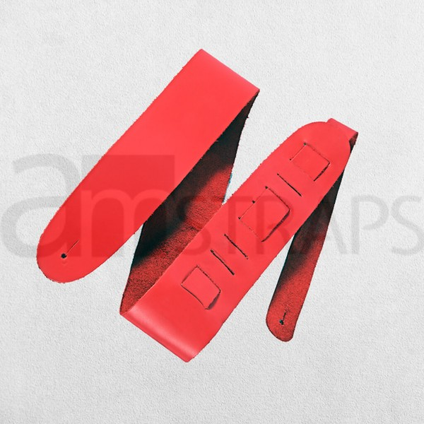 Red Leather Guitar Strap (63mm)